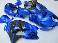 al por mayor 1996 hayabusa-Carenados de carrocería Para SUZUKI Hayabusa GSX1300R 1996 1997 1998 1999 2000 2001-2007 GSX-R1300 Blue Black Carenado ZZ551