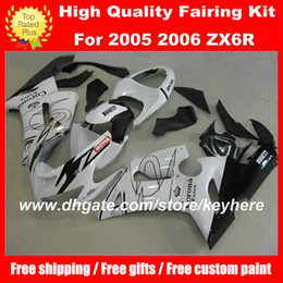 Free Customize ABS fairings kit for KAWASAKI ZX6R 05 06 Ninja ZX 6R 2005 2006 fairings g2a motorcycle parts white Corona black aftermarket