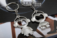 Wholesale zinc alloy exquisite lover keychain chorus doll key pendant bottle opener key ring bag decoration promotion gift