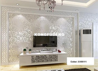 Wholesale Sliver Netherland Victorian Damask Embossed Wallpaper High Quality