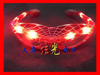 Wholesale Hot Sale Party Spiderman LED Glasses Flashing Light Glow Glasses Halloween Masquerade