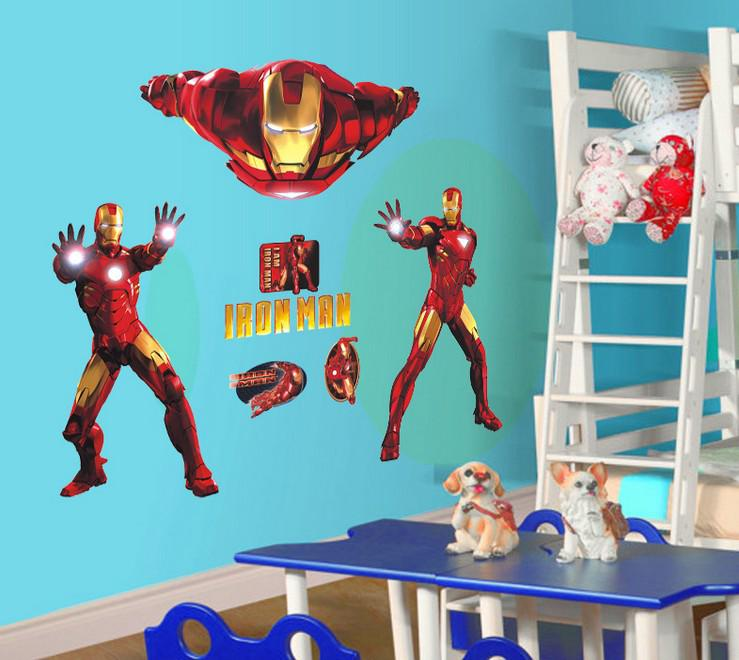 Wholesale Removable Iron Man Wall Stickers Wall Art Stickers
