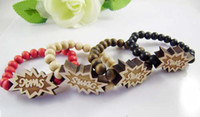 Unisex Wood Beaded, Strands Wooden bracelet SW & AG Hip hop GOOD WOOD NYC Beaded rosary jewelry Best gift for U C0566