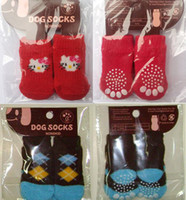 colorful socks - Lowest Price Cartoon Design Colorful Pet Socks Dog Socks dog Non slip socks pet Anti skid partic socks cat socks U choose size pc sets
