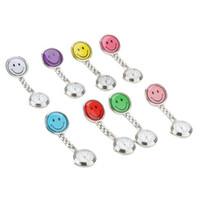 Wholesale 100 Women Lady s Watches Smiling Face Clip Nurse Watch Chain Quartz Analog