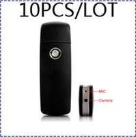Wholesale HK POSTFreeship A8 DVR USB Flash Disk With Motion Detection p usb disk spy camera u disk video