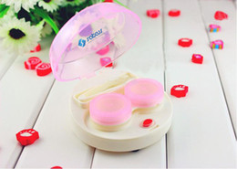 Wholesale Care Your Vision Automatic Cleaning Transparent Lovers Lens Case Electronic Contact Lens Case