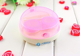 Wholesale 10pcs Care Your Vision Automatic Cleaning Transparent Lovers Lens Case Electronic Contact Lens Case