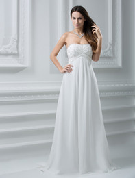 Wholesale Sweetheart Empire Waist Beading Chiffon Wedding Dress u6