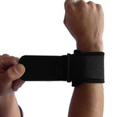 Cheap Sports safety outdoor exercise black basketball badminton tennis volleyball wrist protector support protect brace strap wristband