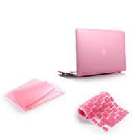 """13'' covers pc Pink Crystal Transparent Clear Skin Hard Case Cover + Silicone Kayboard Skin For Apple Macbook Air 13"""""""