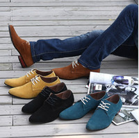 Wholesale Man fashion designer Shoes men s leather Business oxfords office pointed dress shoes