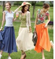 V_Neck Women beach dress Chiffon 2013 summer wear new skirt Bohemian skirts beach full-skirted dress long skirt