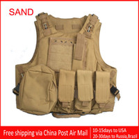 Wholesale Amphibians combat Molle design Tactical vest WIRE STEEL IN