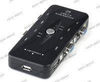 auto kvm - LLFA448 New Portable USB KVM Ports Selector VGA Print Auto Switch Box V322