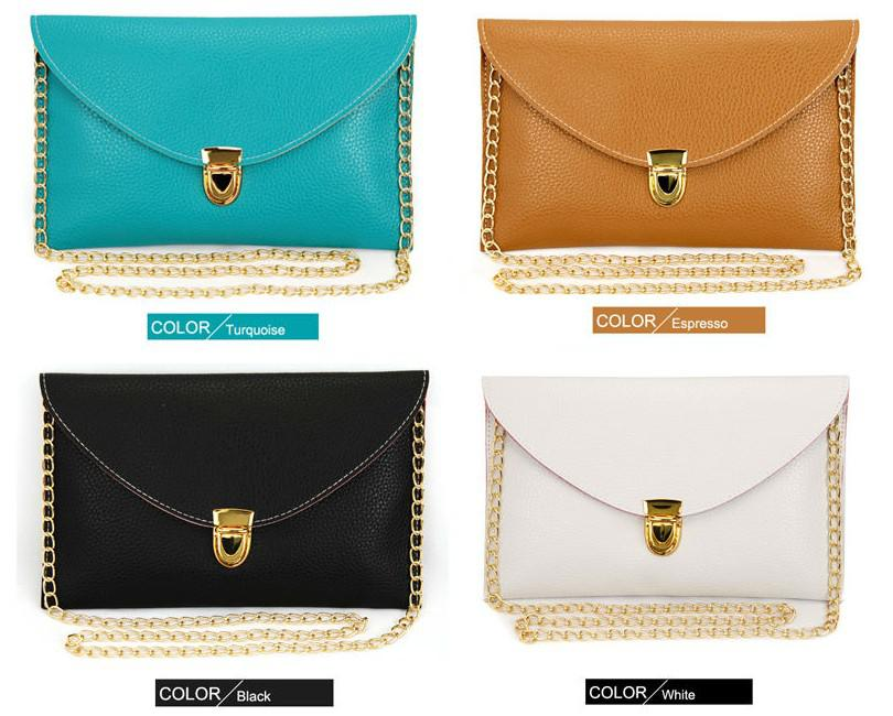 Hot!womens Clutch Envelope Clutch Bag Chain Purse Lady Handbag ...