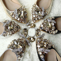 Wholesale 2013 Womans New Arrival Shoes Fashion Cute Princess Girls Crystal Rhinestone Flat Pointed Toe Slip on Ballet Flats Shoes