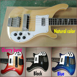 Wholesale Custom Bass new arrival strings Electric Bass Guitar Natural color black blue Cherry burst In stock Chinese guitar