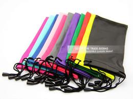 Wholesale waterproof leather plastic sunglasses pouch soft eyeglasses bag glasses case many colors mixed cm
