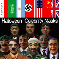 Wholesale Halloween carnival Mask styles Celebrities mask Safety and environmental protection latex Tricky mask full face mask