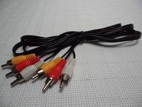 Wholesale 50Pcs M FT Triple RCA to RCA RCA Composite Audio Video AV Cable