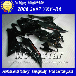 7 Gifts racing fairing kit for YAMAHA 2006 2007 YZF-R6 06 07 YZFR6 06 07 YZF R6 YZFR600 black custom Fairings set ab74