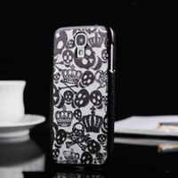 Plastic For Samsung For Christmas Ghost skeleton Design Danse Macabre Skull devil style Fashion Electroplating Hard Shell Plastic Case for Samsung Galaxy S4 S 4 SIV i9500