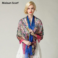Wholesale Paj extra long cm mulberry silk fashion silk ladies scarf