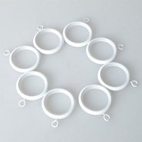 Wholesale 8 Mute Wrought Iron Curtain Rings with Clip quot White set