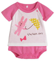 Printed Image Halloween Unisex Cheap Baby One Piece Romper Cute Pink Babys Clothes The Best Day Print Baby Boys Girls Jumpsuit Cool Best Babywear 100% Cotton ON SALE 31111