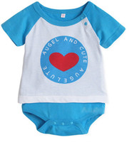 Printed Image Children's Day Unisex Baby One Piece Romper Cheap Babys Clothes Blue Short Sleeve Round Neck Baby Boys Girls Jumpsuit Cool Best Babywear 100% Cotton SALE 31111