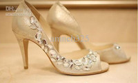 Wholesale 2012 Dhagte Fashion Wedding Shoes Prom Shoes Shoes Bride Shoes Shoes Beaded Hight Cm Custom made