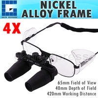 Wholesale NDL N x x Magnification Prismatic Keplerian Style Binocular Dental Loupes Surgical Medical Dentistry Nickel Alloy Frame