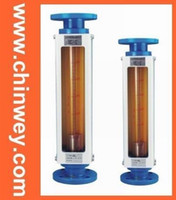 15   LZB -15 glass rotameter flow meter for liquid and gas ,flange connection