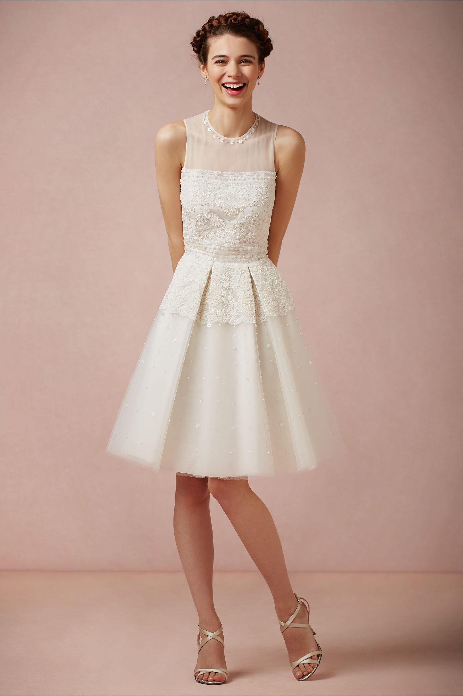 White Short Lace Dress
