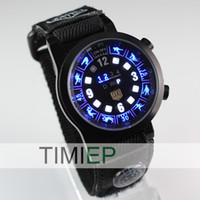 adventure watches - 2013 New Trendy Design Outdoor Sports Adventure Clock Mens Binary LED Watches LUMINOUS KING