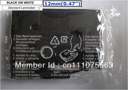 Wholesale Black on White Label Tape Compatible for Brother TZ TZe P Touch ft