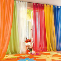 Wholesale Hot sale europe gauze curtain kind of color l cm cm