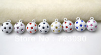 Charms soccer jewelry - fashion crystal rhinestone soccer ball pendant jewelry charms