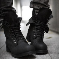 men military boots fashion - Men s military boots suede leather fashion ankle combat causal shoes of man
