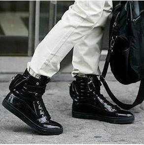 Men's Black Fashion Sneakers Men s Fashion High Top