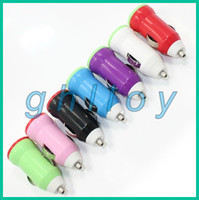 Wholesale Rainbow Series USB Car Charger USB Adapter for for iphone G s GS G ipad