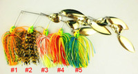 Wholesale new Spinner Baits Double Piece Spinners fishing lures hard baits G colors CM CM SB002