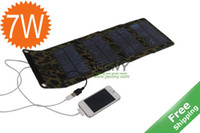 Wholesale Solar Foldable Mobile charger W V solar powered Charge for mobile MP3 PSP etc
