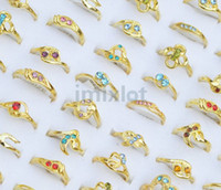 Wholesale Ring Jewelry CZ amp Gold P Rings Multicolor Crystal Rings Rhinestone Jewelry Fashion Rings Jewelry CZ70