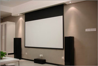 16:9 electric projection screen - On sale inch Motorized Projector screen Electric projection screen with wireless remote controller Matte White fabric
