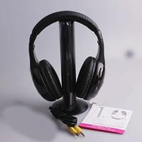 Wholesale 5 in HIFI Wireless headphone Headset wireless Monitor FM radio for MP4 PC TV audio