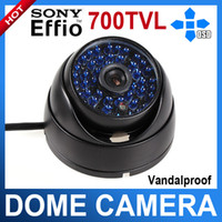 CCD dome camera - SONY Effio E TVL IR CCTV IR ARMOR Waterproof Night Vision Dome Camera mm lens with OSD Mean
