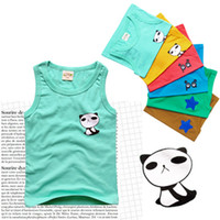 6T-7T Hybrid delivery  neutral  2013 summer new Korean boys and girls children's clothing children's summer vest sleeveless vest T-shirt (10 a pack)