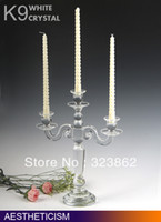 Wholesale Fashine crystal glass candle holders for home decoration for wedding